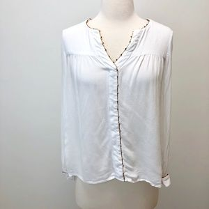 Zara Basic White Blouse sz Small